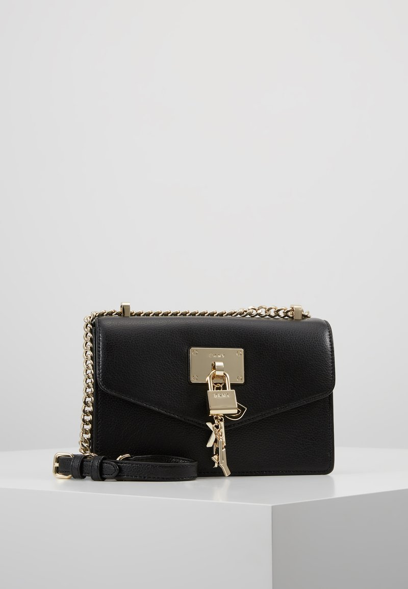 DKNY - ELISSA SMALL SHOULDER FLAP - Across body bag - black