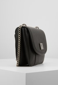 DKNY - COLUMBUS - SHOULDER FLAP - Sac à main - black silver - 3