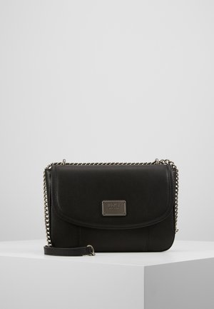COLUMBUS - SHOULDER FLAP - Håndveske - black silver