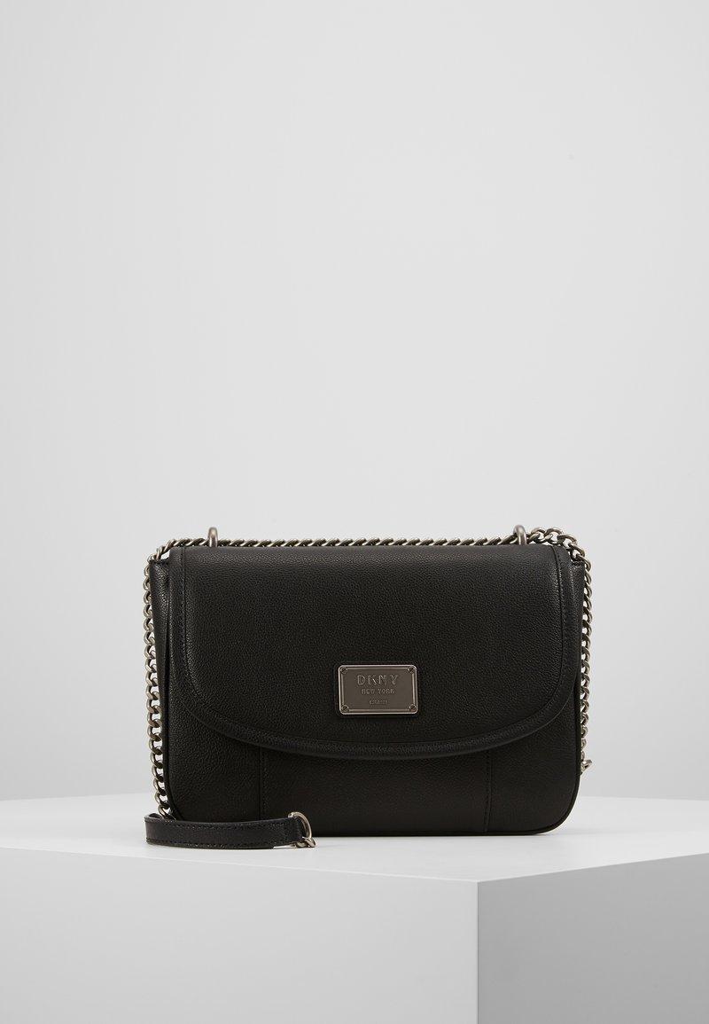 DKNY - COLUMBUS - SHOULDER FLAP - Handtasche - black silver