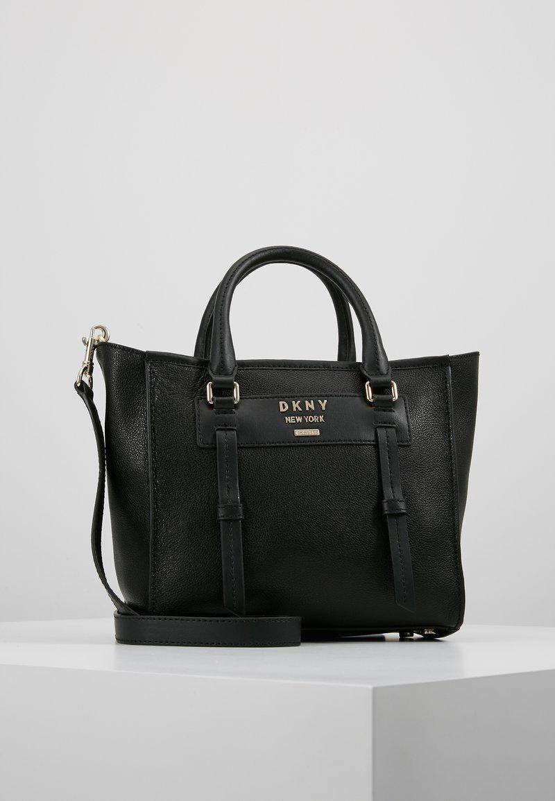 DKNY - WARREN  - Bolso de mano - black/gold-coloured