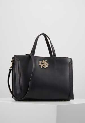 CATHERINE - Handbag - black/gold