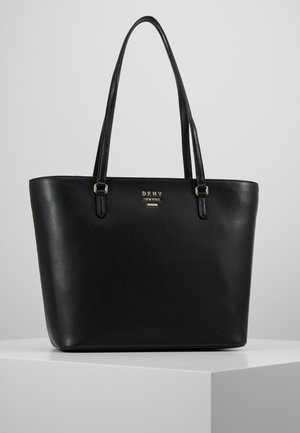 WHITNEY - Shopping bag - black/gold-coloured