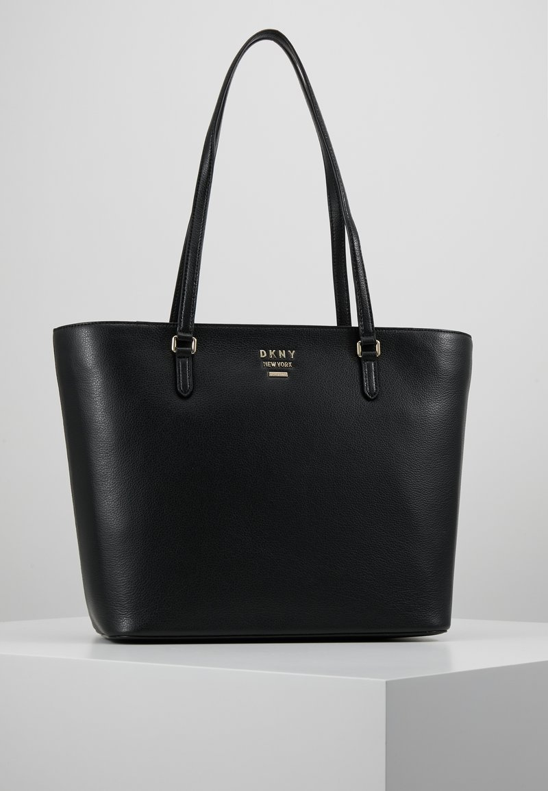 DKNY - WHITNEY - Shopping bags - black/gold-coloured