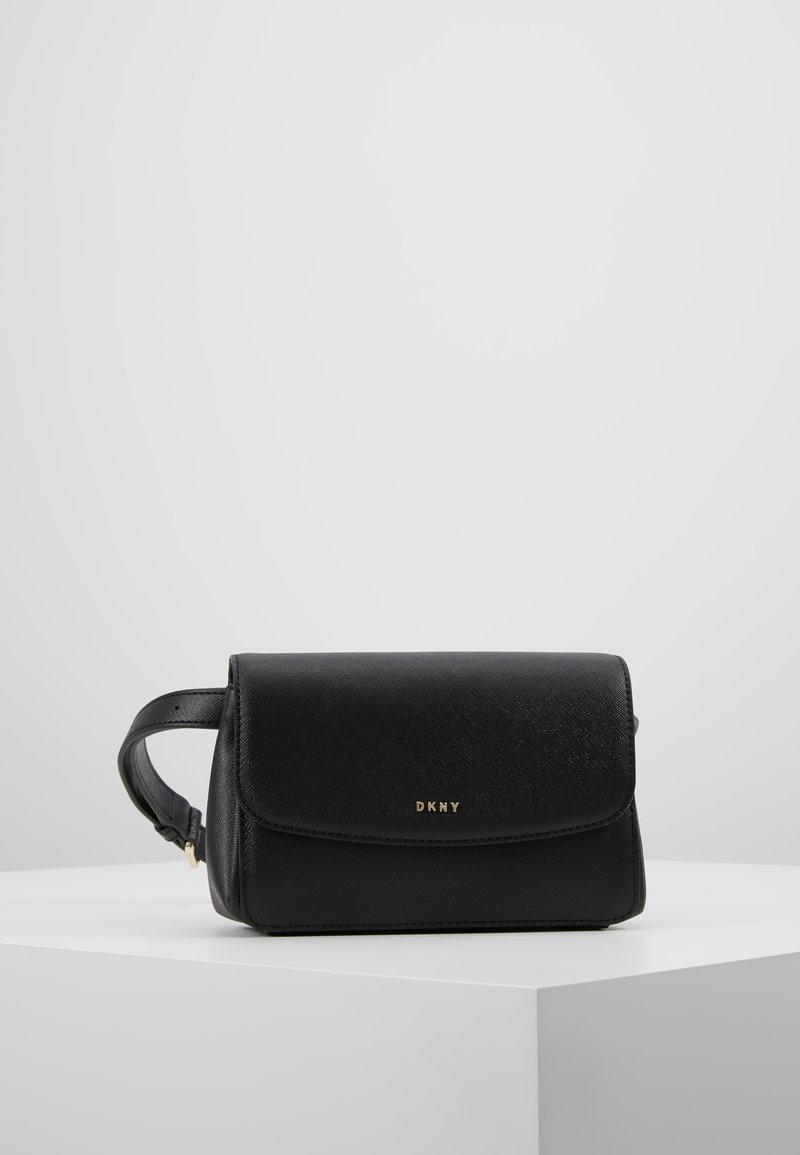 DKNY - ITEM BELT BAG - Bum bag - black7gold-coloured