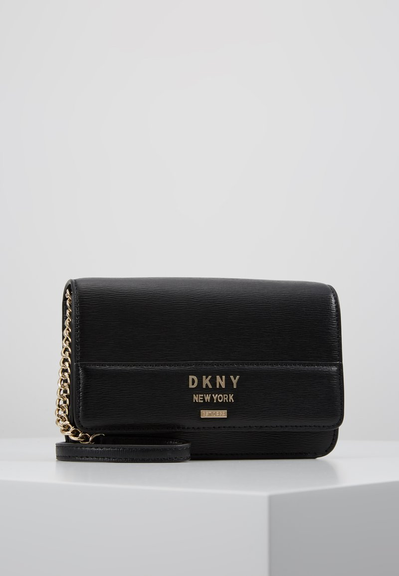 DKNY - AVA WALLET STRING - Across body bag - black/gold
