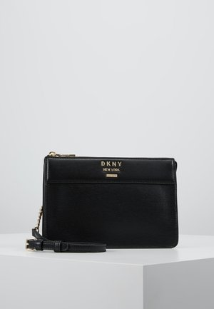 AVA TOP ZIP CROSSBODY - Sac bandoulière - black/gold-coloured