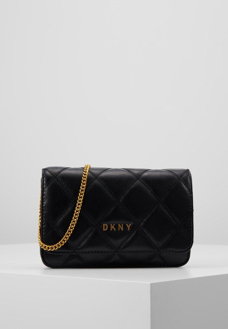 DKNY - SOFIA ON A STRING - Sac bandoulière - black/gold