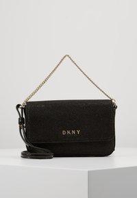 DKNY - ITEM DEMI FLAP CROSSBODY GLITTER - Across body bag - black/gold - 0