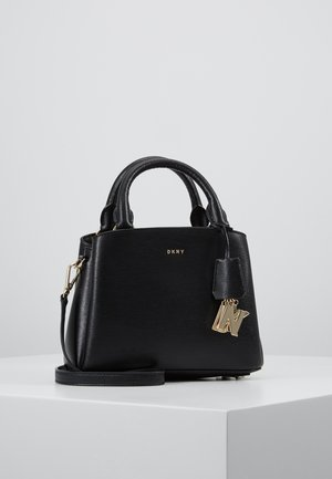 SATCHEL - Handväska - black/gold