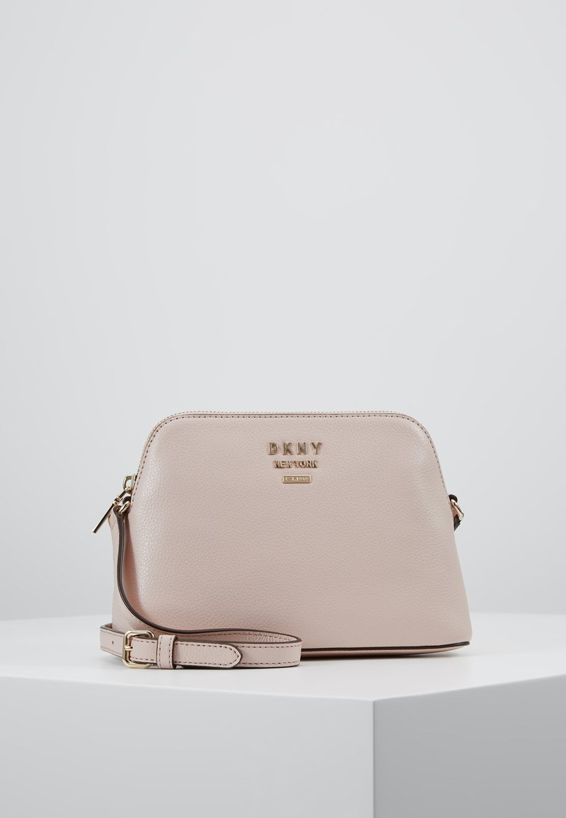 DKNY - WHITNEY DOME CROSSBODY - Across body bag - cashmere