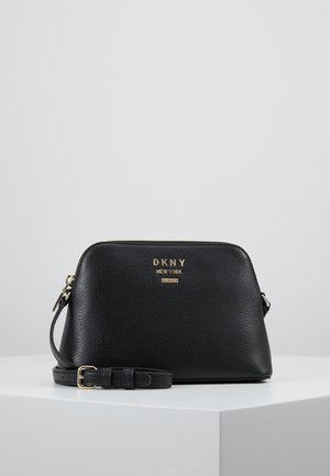 WHITNEY DOME CROSSBODY - Umhängetasche - black/gold-coloured