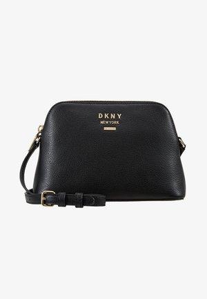 WHITNEY DOME CROSSBODY - Across body bag - black/gold-coloured