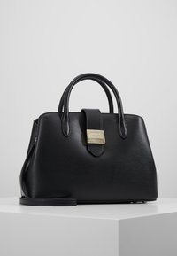 DKNY - LYLA CENTER ZIP SATCHEL SUTTON - Handbag - black/gold - 0