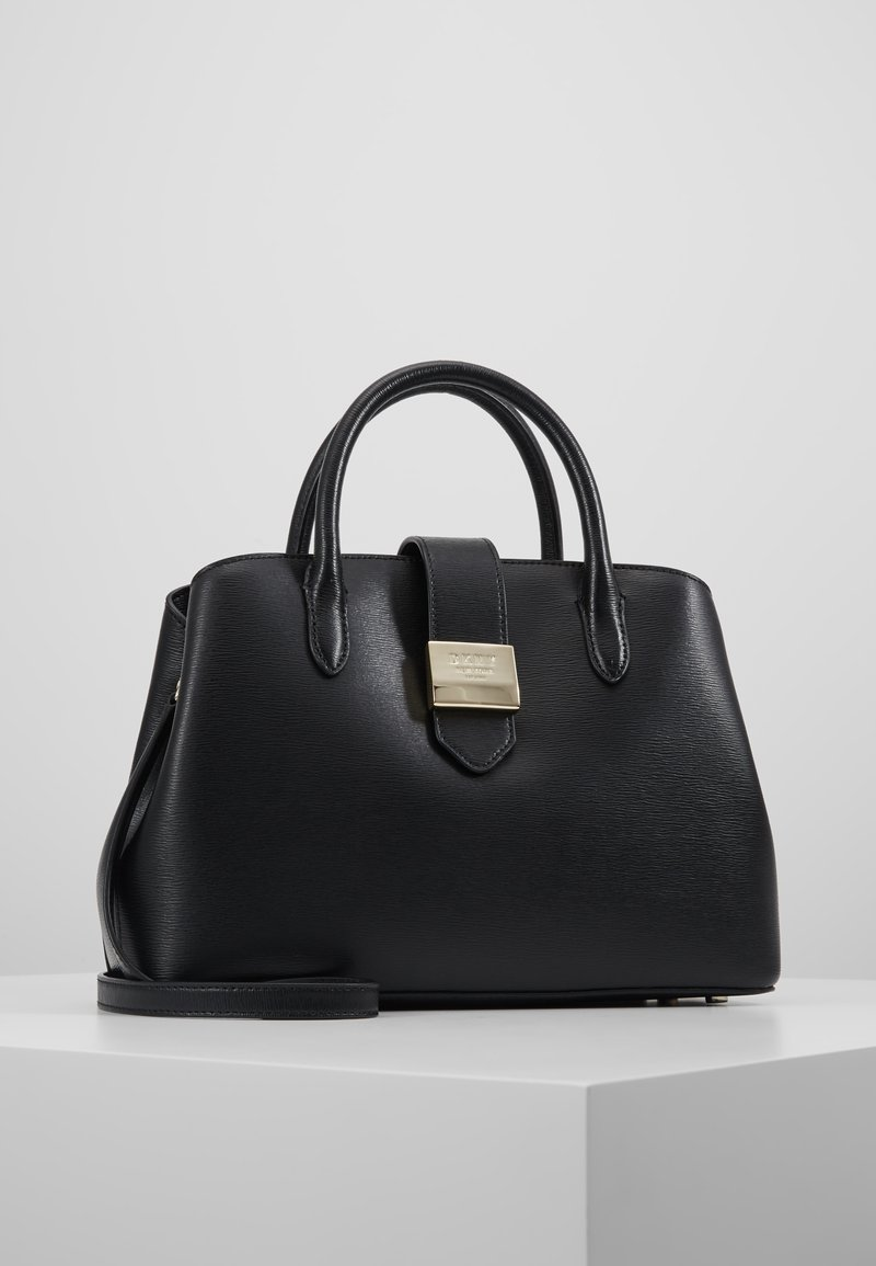 DKNY - LYLA CENTER ZIP SATCHEL SUTTON - Handbag - black/gold