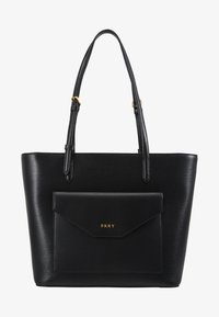 DKNY - ALEXA TOTE SUTTON - Tote bag - black/gold - 5