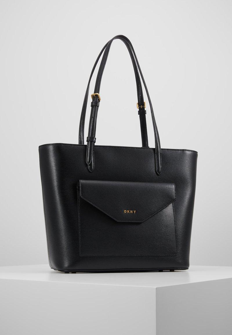 DKNY - ALEXA TOTE SUTTON - Tote bag - black/gold