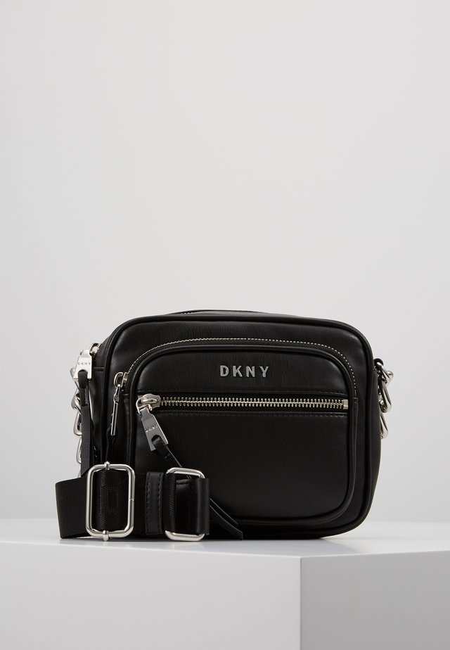 ABBY CAMERA BAG - Across body bag - black/silver
