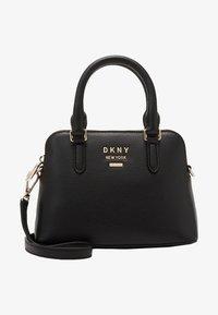 DKNY - WHITNEY MINI DOME SATCHEL - Handbag - black/gold - 4