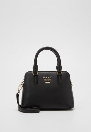 WHITNEY MINI DOME SATCHEL - Handtasche - black/gold