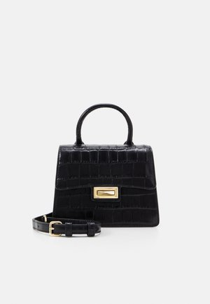 JOJO MINI SATCHEL - Handbag - black/gold