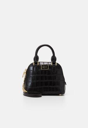 STEFFY MINI DOME SATCHEL - Handbag - black/gold