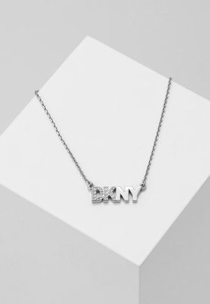 PAVE LOGO PENDANT  - Necklace - rhodium-plated