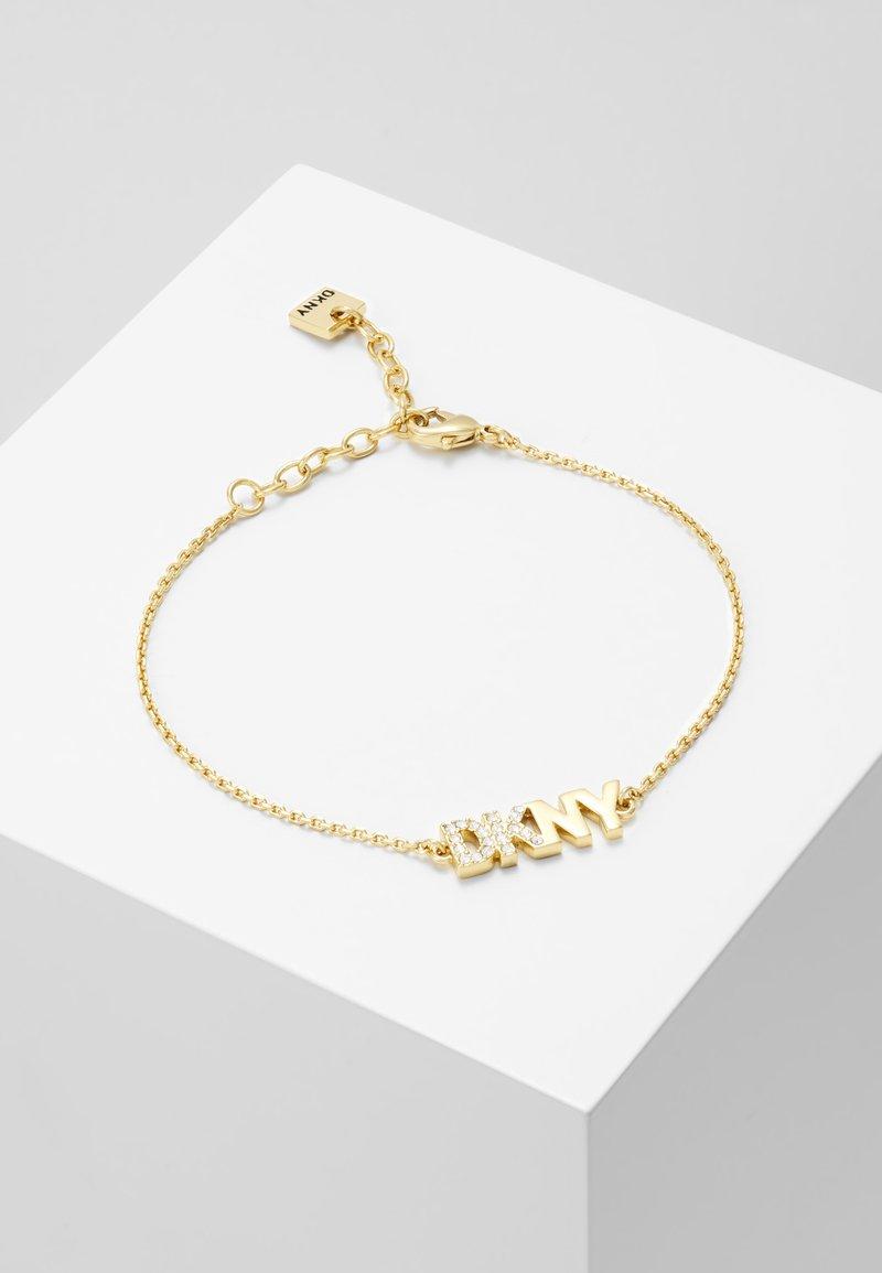 DKNY - PAVE LOGO PENDANT - Armband - gold-coloured