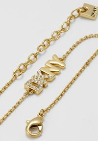 DKNY - PAVE LOGO PENDANT - Armband - gold-coloured - 5