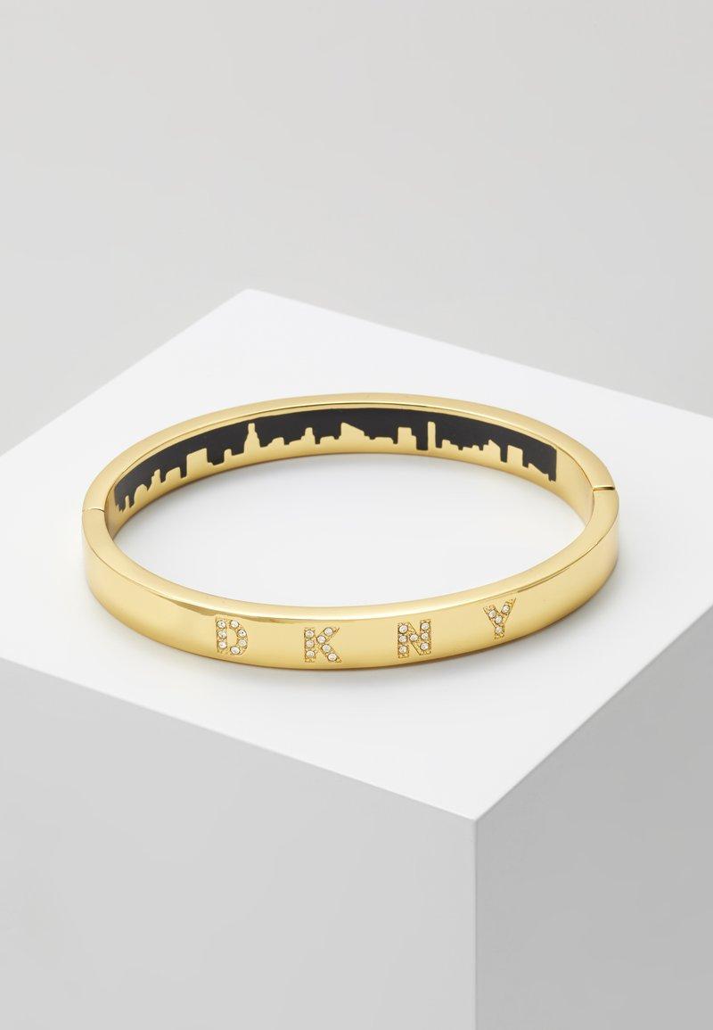 DKNY - ENAMEL SKYLINE HINGE BANGLE  - Bracelet - crystal / gold-coloured