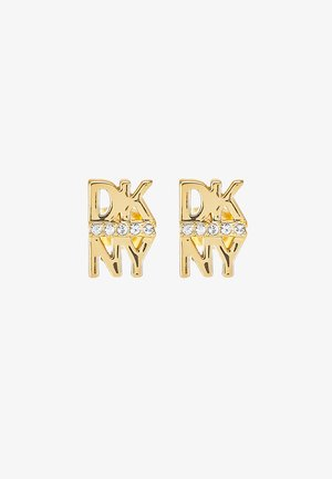 STACKED PAVE LOGO STUD - Náušnice - crystal/gold-coloured