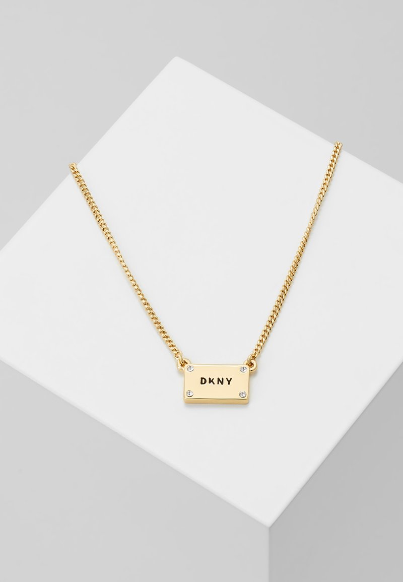 DKNY - LOGO PLACKARD  - Necklace - gold-coloured