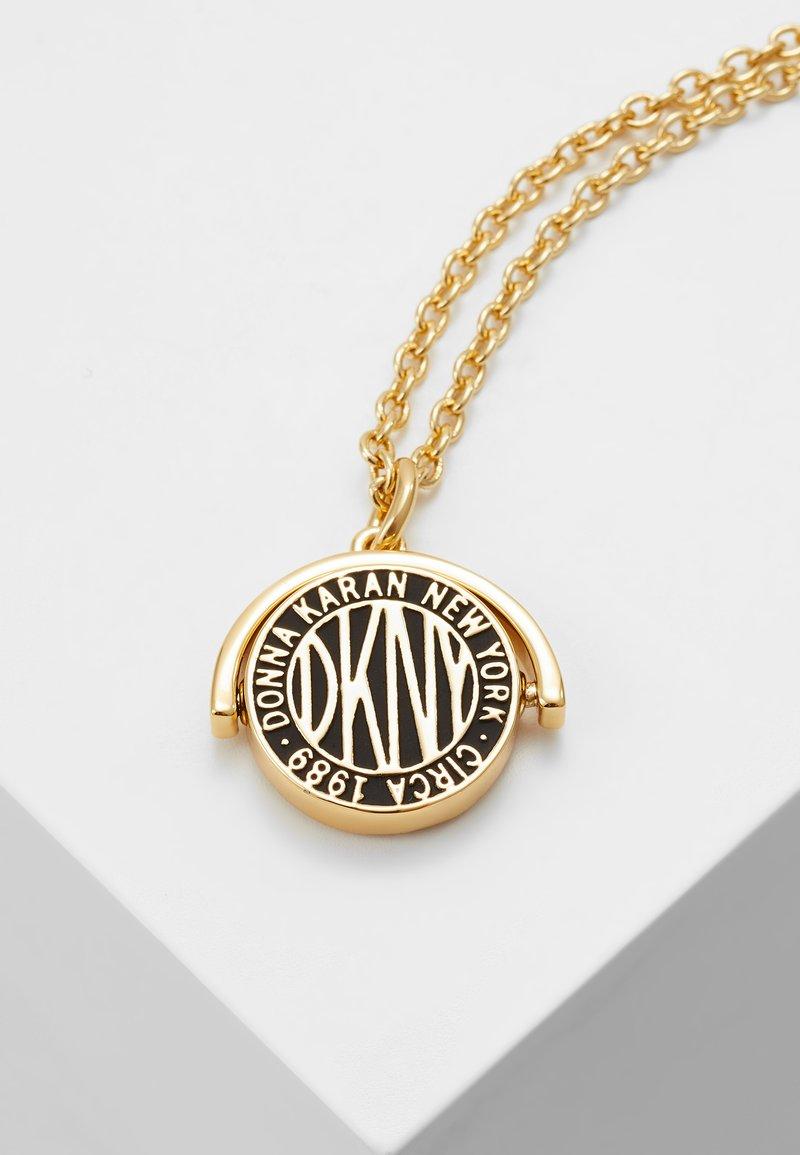 DKNY - SPINNER TOKEN LOGO PENDANT  - Necklace - gold-coloured