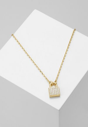 SMALL CRYSTAL PADLOCK - Necklace - gold-coloured
