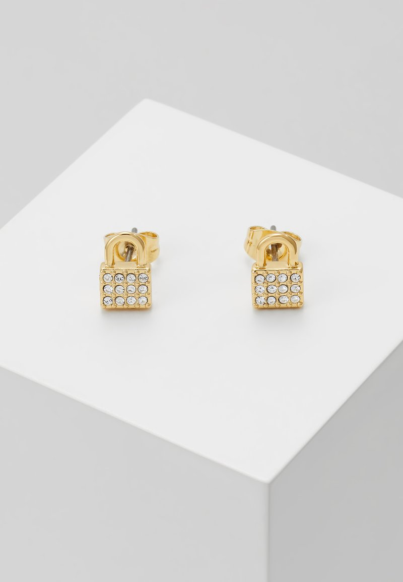 DKNY - PADLOCK STUD - Earrings - gold-coloured