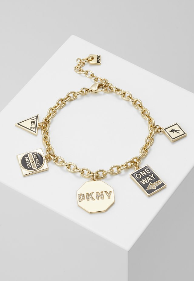 NYC STREET SIGN CHARM - Bransoletka - gold-coloured