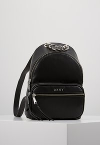 DKNY - ABBY BACKPACK  - Reppu - black/silver - 0
