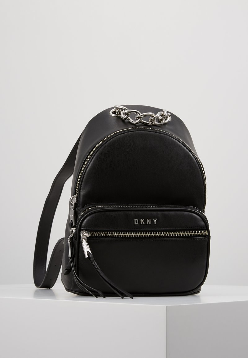 DKNY - ABBY BACKPACK  - Reppu - black/silver