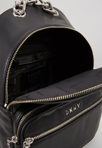DKNY - ABBY BACKPACK  - Reppu - black/silver - 4