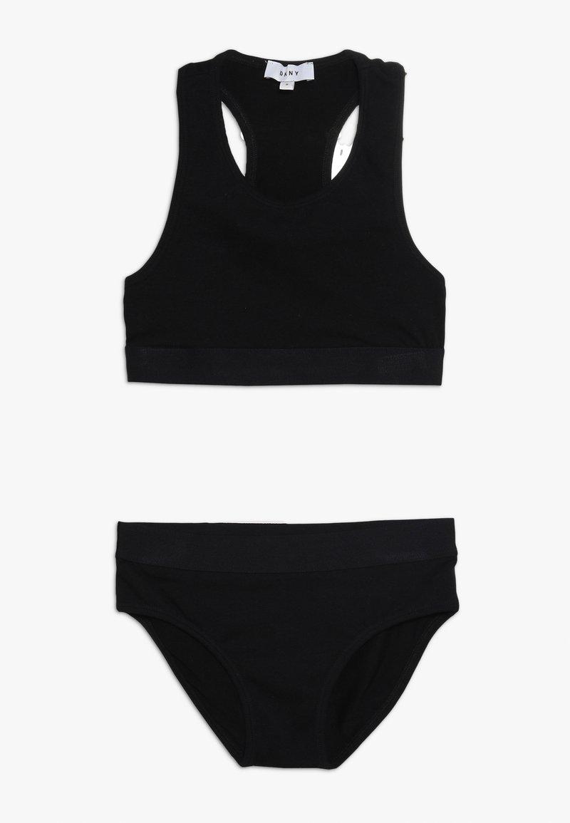 DKNY - ENSEMBLE LEIBCHEN SET - Undertøjssæt - black