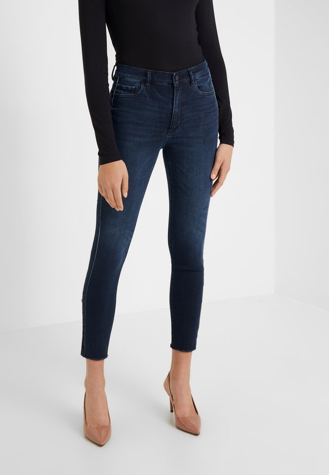 FARROW ANKLE - Jeansy Skinny Fit - dark blue denim