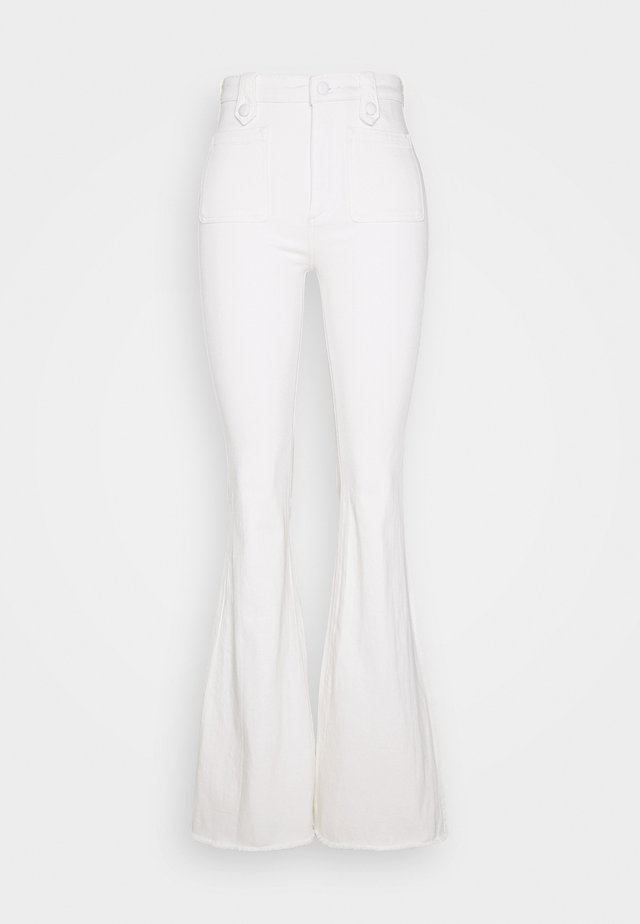 RACHEL HIGH RISE FLARE - Flared Jeans - white denim