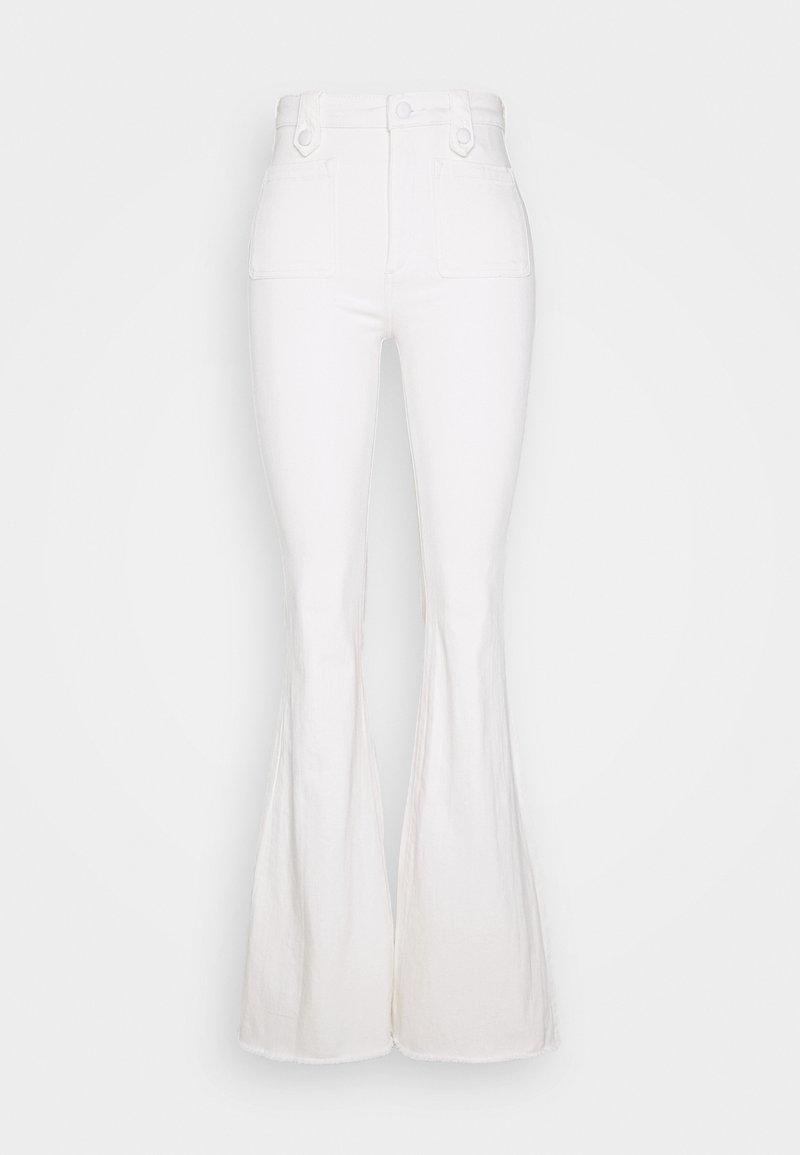 DL1961 - RACHEL HIGH RISE FLARE - Široké džíny - white denim