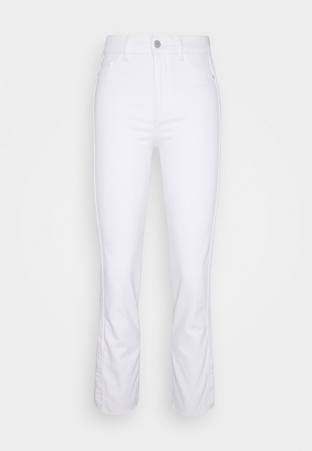 MARA ANKLE: HIGH RISE STRAIGHT - Jeans Skinny Fit - white denim