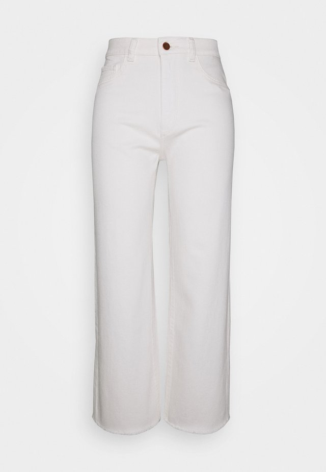 HEPBURN HIGH RISE WIDE LEG - Jeans Relaxed Fit - eggshell