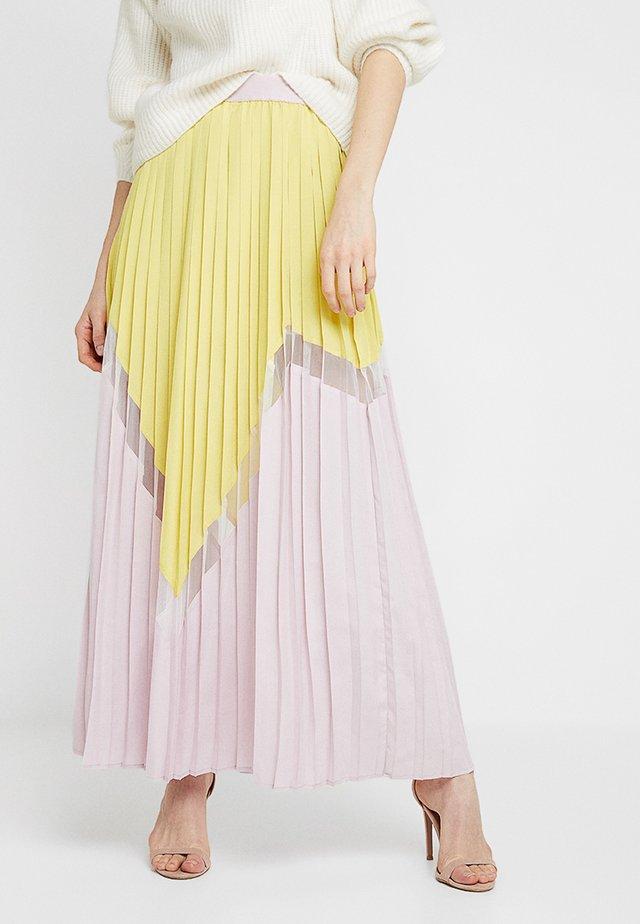 KIRA SKIRT - Długa spódnica - lemon