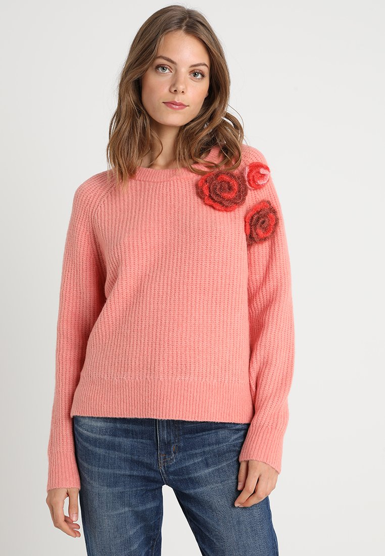 Delicatelove - MILA FLOWER  - Strickpullover - grape