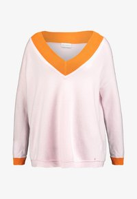 Delicatelove - V NECK JUMPER - Sweter - blush/apricot