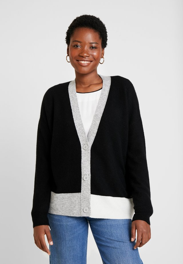 SOLENN - Strickjacke - black