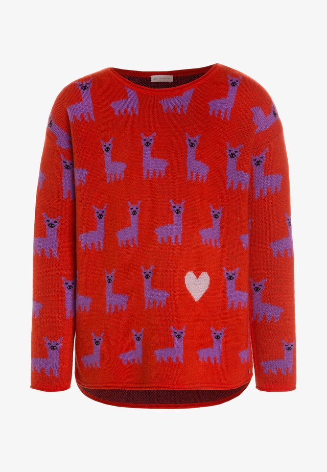 ELSA LAMA - Strickpullover - red